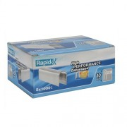 Capse Rapid 28 9 mm galvanizate alb divergente 5x1.000 cutie
