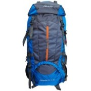 Attache 1021R Climate Proof Rucksack, Hiking Backpack 75Lts Blue & Grey With Rain Cover Rucksack - 75 L(Blue)