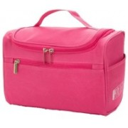 Luxula Portable Hanging Traveling and Cosmetic Bag for Women Blue Travel Toiletry Kit(Pink)