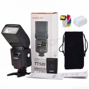 Godox TT520 II Flash TT520II with Build-in receiver RT-16 Transmitter for Canon Nikon Pentax Olympus DSLR Cameras