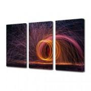Tablou Canvas Premium Abstract Multicolor Spirala De Foc Decoratiuni Moderne pentru Casa 3 x 70 x 100 cm