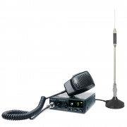 Kit Statie radio auto CB Midland Alan 100 + Antena Midland 18-244M cu magnet