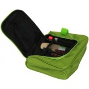 Kuber Industries Waterproof Travel Bag Beauty Make Up Toiletry Wash Bag Zipper Cosmetic Case Organiser Party, Picnic Easy Carrying-KI3275 Travel Toiletry Kit(Green)