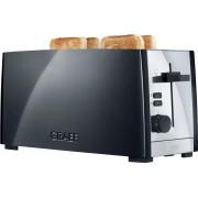 Graef Toaster TO 102, schwarz-matt, 2 lange Schlitze, für 4 Scheiben, 1380 W