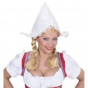 Geen Boerinnen hoofdkapje wit voor dames