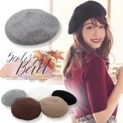 女性らしい丸みのあるデザインが可愛い!フラノベレー帽/帽子[J521]