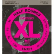 DAddario ENR71 Half Round Bass Guitar Strings Regular Light 45-100 Long Scale