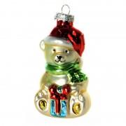 Bellatio Decorations Kerstbal kerstbeer 8 cm