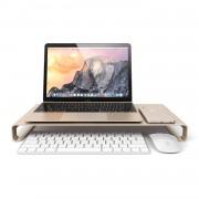 Satechi Aluminium Monitor Stand - настолна алуминиева поставка за монитори, MacBook и лаптопи (златиста)