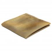 TND Basics Pochette de costume en soie dorée à pois blancs
