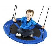 "Flying Squirrel Giant Rope Swing - 40"" Saucer Tree Swing - Blue by Squirrel Products"