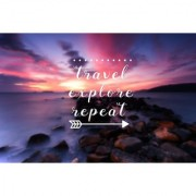 travel explore sticker poster travelling quotes for travellers size:12x18 inch multicolor