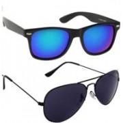 John Dior Aviator Sunglasses(Blue, Black)