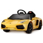 New Ride On Car Lamborghini Aventador Lp700, Licensed Toy For Kids, Boys And Girls With Music, Lights And Remote Control Yellow