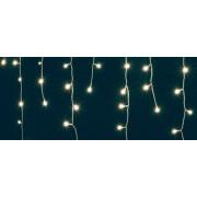 Kültéri fényfüggöny, 8 programos vezérlővel 200 db meleg fehér LED 10m hosszú KAF 200L 10MWW