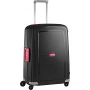 Samsonite Reiskoffer - S'Cure Spinner 69/25 (Medium) Black/Bright Pink
