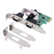 Jeirdus PCIe Combo de Tarjeta Serie paralela, RS-232 Puerto Serie COM y DB25 Impresora Puerto Paralelo LPT a PCI Express Adaptador de Tarjeta convertidor WCH382 Chip con Soporte bajo, PCIE to RS232