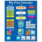 Magnetic My First Learning Calendar - BLUE (Also available in PINK)
