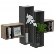 Mueble Repisa de Pared TuHome - Miel / Plomo