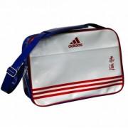 Adidas retro sporttas wit/blauw