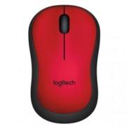 Мишка Logitech M220 Silent, оптична (1000dpi), безжична, червена
