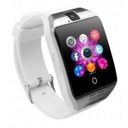 "Smartwatch Vogue Q18 Curved cu Camera si Telefon 3G Alb Display 1.54"" Bluetooth"