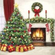 Lunchservet Christmas Interior