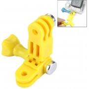 TMC-Houder 3 weg draai arm met schroeven voor GoPro Hero 4 / 3+ / 3 / 2 / 1, ABS materiaal (geel)