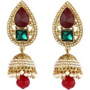Jewels Gold Traditional Gold Plated Party Wear Latest Designer Jhumka Jhumki Earring Set For Women Girls