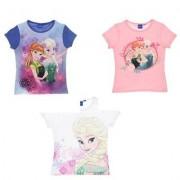 Disney Frost kortärmad T-shirt barn (Vit, 6A - 116 cm)