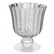Vaza sticla argintie Augusta Ø 14x16 cm