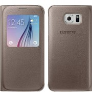 Samsung Custodia per Galaxy S6 G920 Originale S View Premium Cover Oro