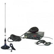 Kit Statie radio CB PNI Escort HP 8001 ASQ + Casti HS81 + Antena CB PNI ML70 cu magnet (Negru)