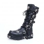 bőr csizma - Cross Boots (403-S1) Black - NEW ROCK - M.403-S1