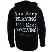 kapucnis pulóver férfi - Keep Evolving - BLACK CRAFT - ZS030KP