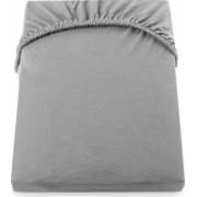 Cearceaf de pat cu elastic 160200+28 cm YUNY MALLY HOME and ndash 100BBC - Gri