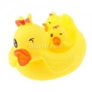 Alcoa Prime Bath Time Toy Floating Baby Kid Bathing Yellow Ducks with Bowknot Set of 4