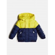 Guess Gevuld Jasje Color Block Logo - Blauw multi - Size: 18M