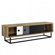 [en.casa]® Lowboard con puertas corredizas - Mesa de Tele - cómoda - Armario TV - 140cm x 35cm x 41cm