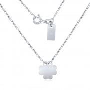 Silvego Stříbrný náhrdelník s přívěskem čtyřlístek - SMJN095EF4