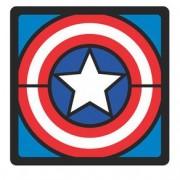 Quadro Faces Capitao America Marvel - 20x20