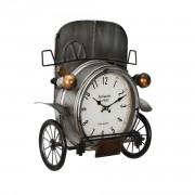 Стенен часовник Античен автомобил -с аналогови стрелки - 33 x 13 x 36 см. - цветен - стъкло