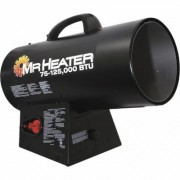 Mr. Heater Portable Propane Forced Air Heater with Quiet Burn Technology - 75,000 - 125,000 BTU, Model MH125FAV