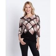 Ovanti Strickdesign Pullover mit Rautendruck beige female Größe 38
