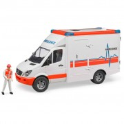 Bruder Ambulanza con Conducente Merceder Benz Sprinter 1:16 02536