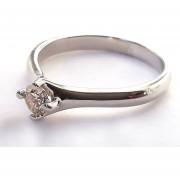 Anillo De Compromiso Solitario Diamond Desing Diamante Natural 20 Puntos Con Montadura De Oro Blanco De 14 Kilates