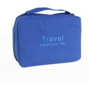 Everbuy Travel Your Life Bag Travel Pouch Folding Wash Bag COSMETIC lite blue(Blue)