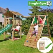 Jungle Gym Cottage lektorn med klättermodul och 1 gunga - jungle gym 069845