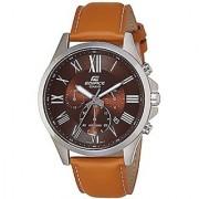 Casio Analog Brown Round Watch -EFV-500L-5AVUDF
