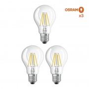 Osram / Ledvance Pack éco 3 ampoules LED Osram E27 6,5W verre transparent - Ampoules LED E27